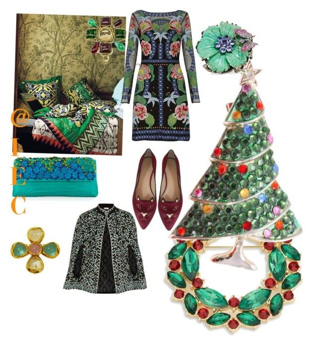 """Wish list for Christmas"" by kit92 on Polyvore featuring Temperley London, Talitha, Charlotte Olympia, Nancy Gonzalez, Chanel, R.J. Graziano and Wendy Yue"