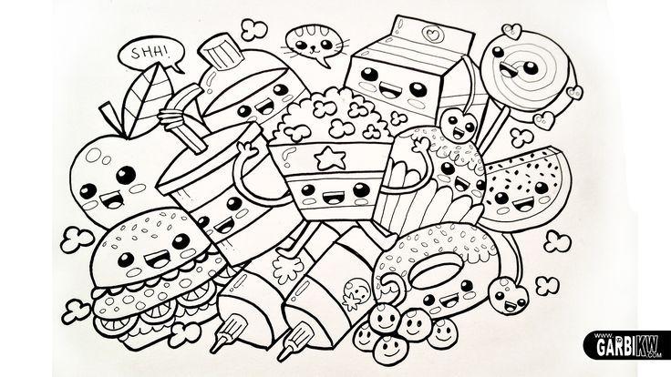Dibujo de Caja de Música Kawaii para Colorear \u2013 Dibujos.net