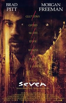 Seven (sometimes stylized as Se7en) is a 1995 American thriller film, with horror and neo-noir elements, written by Andrew Kevin Walker, directed by David Fincher, and distributed by New Line Cinema. It stars Brad Pitt and Morgan Freeman, with Gwyneth Paltrow, R. Lee Ermey, and Kevin Spacey in supporting roles.