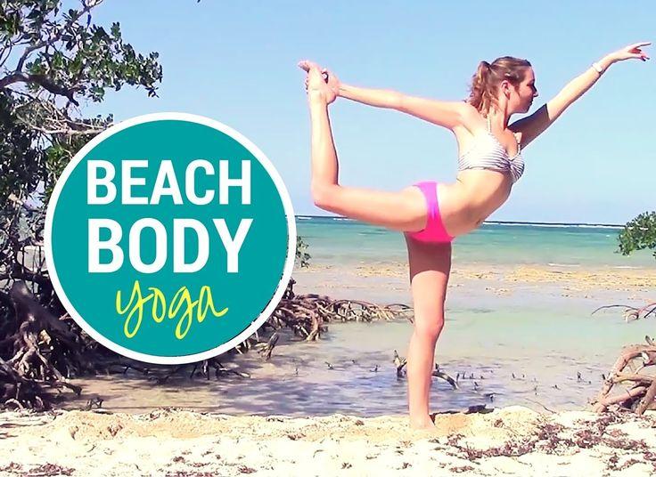 30 Minuten Beach Body Yoga HIIT Workout – Bikini Yoga Flow mit langem Savasana   – Exercise