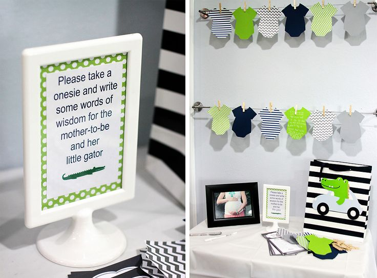 The Crazy Picture Lady!: Alligator Baby Shower