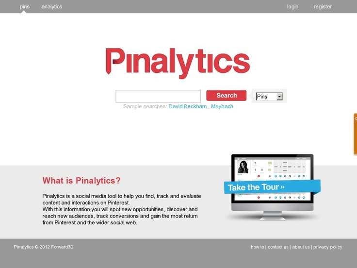 Pinalytics is a social media tool to help you find, track and evaluate  content and