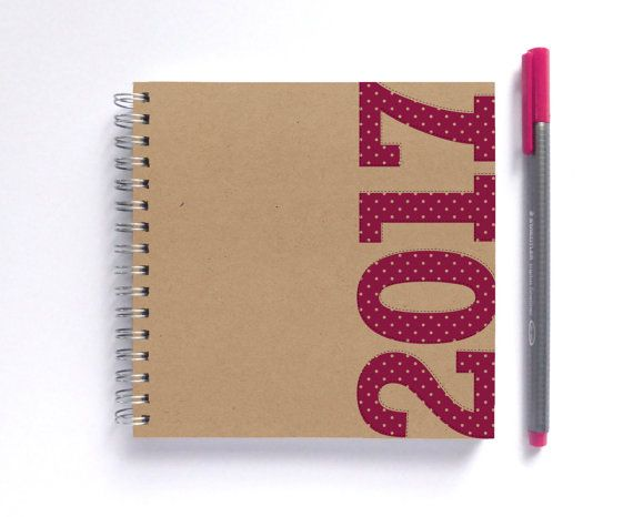 2017 Weekly Planner - SMALL 14cm/5.5in Square