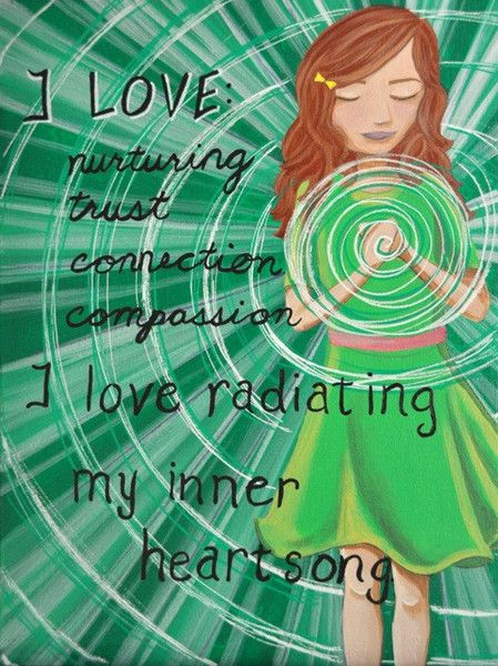 Divine Spark:  #Heart #Chakra affirmation : accepting and allowing love, forgiveness, trust, openness.