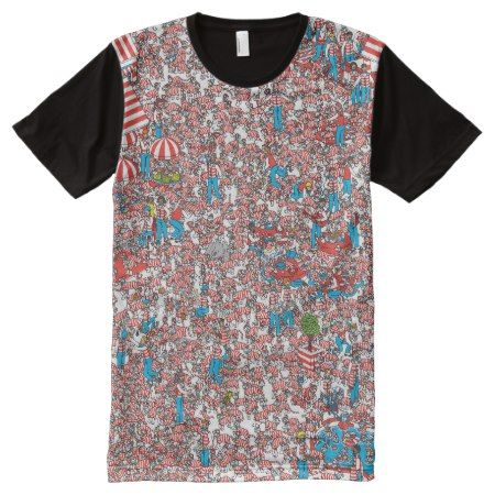 Where's Waldo Land of Woofs All-Over-Print T-Shirt - tap, personalize, buy right now!
