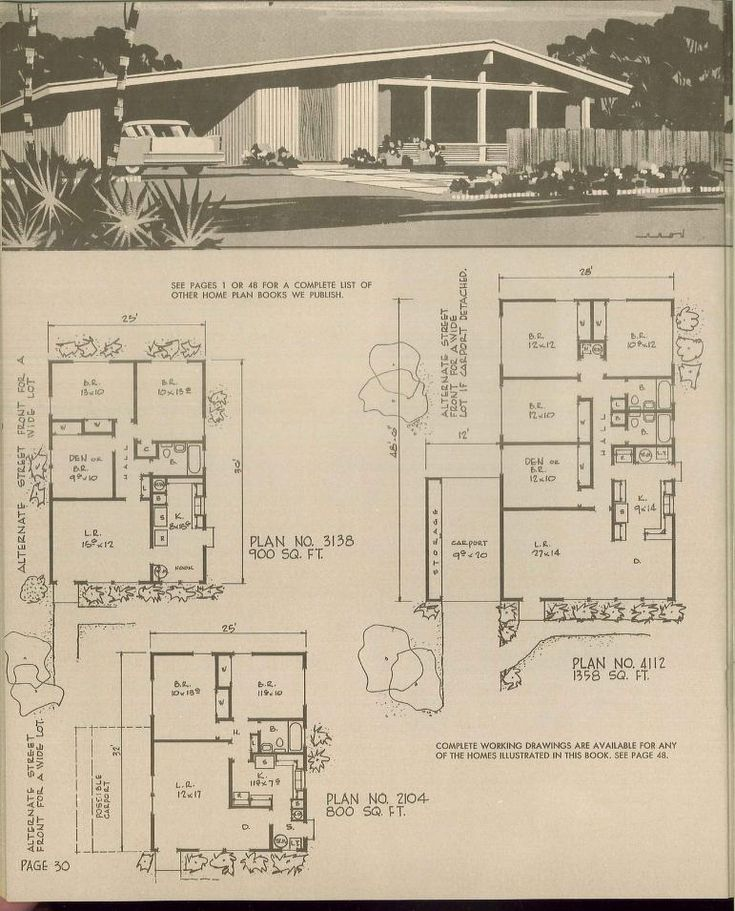 17 Best Images About Retro House Plans On Pinterest Mid