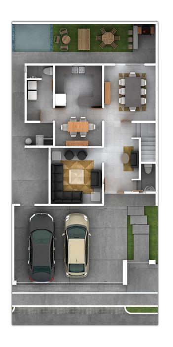 Best 25 planos de casas 3d ideas on pinterest planos - Planos de casas para construir ...
