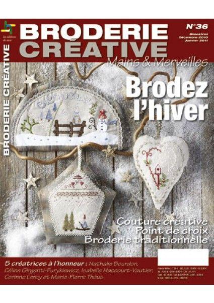 Broderie Créative 36 - Brodez l'hiver - Editions de Saxe