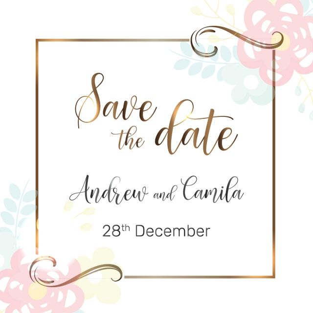 Beautiful Save The Date Wedding Invitation Template Beautiful Wedding Save Png And Vector With Transparent Background For Free Download Wedding Invitations Wedding Invitation Templates Romantic Wedding Frame