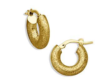 Baby Hoop Earrings In 18k Gold Over Sterling Silver By Charles Garnier Jewelry Pinterest