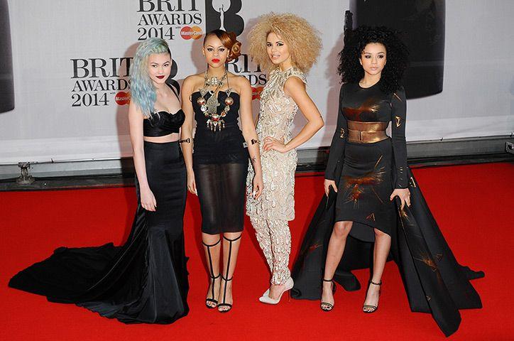 Credit: Anthony Harvey/Getty Images Asami Zdrenka, Amira McCarthy, Shereen Cutkelvin and Jess Plummer of Neon Jungle at the Brit Awards 2014 #BRITs2014