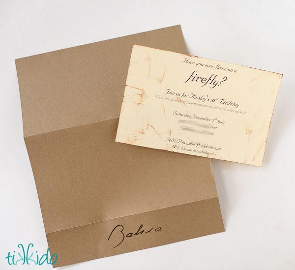 Firefly Invitation Tutorial--Shepherd Book's Box of Strawberries | Tikkido.com