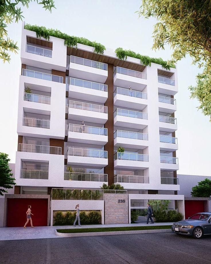 M s de 25 ideas incre bles sobre fachadas de edificios en for Fachadas de departamentos modernos
