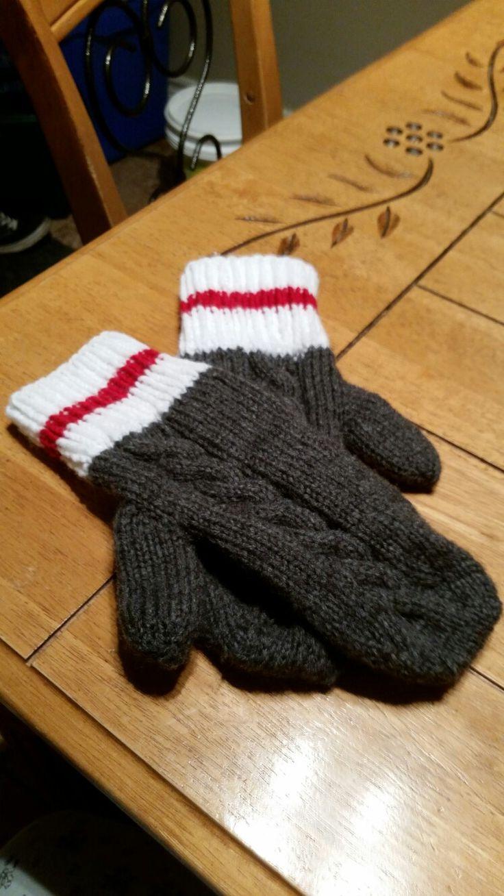 21ième création mitaine style bas de laine pour ma fille Andréanne