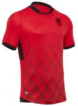 Albania National Team 2017-18 Home Red Soccer Shirt Jersey [J728]