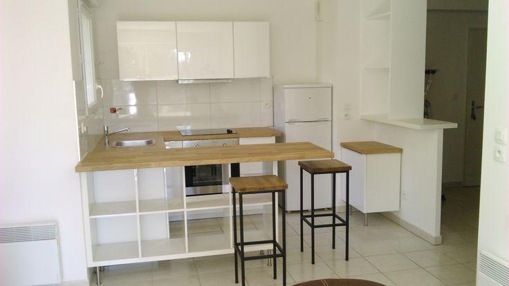 Séparation de cuisine avec KALLAX #cuisine #ikea #KALLAX