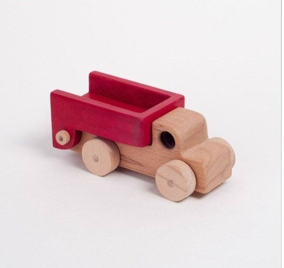Handcrafted wooden truck natural organic wooden toys by woodenplay, $22.00