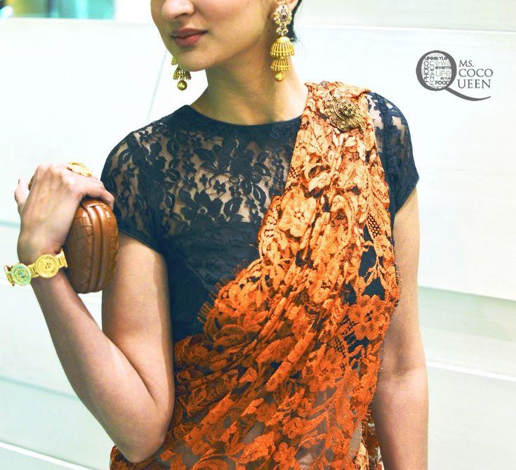 We at Suman Bajaj Sarees are big fans of lace.