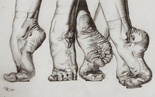 Drawing of flexible feet