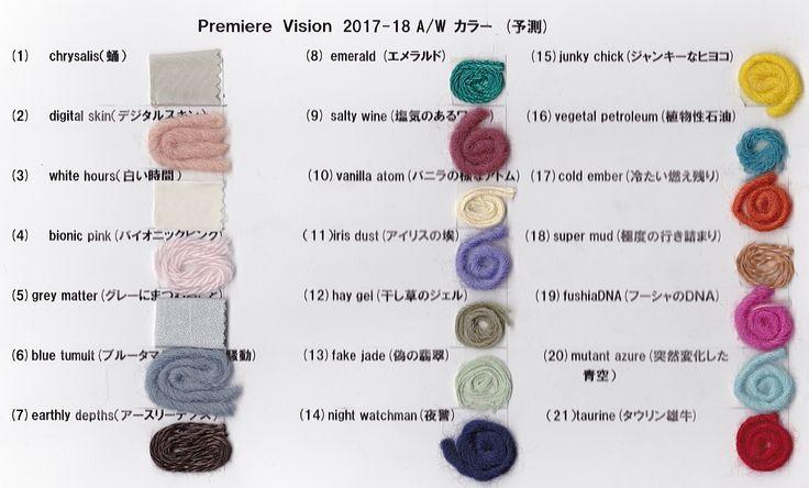 Premiere Vision 2017-18 A/W 1 カラー予測 | テキスタイルウォッチング テキスタイルディレクター・北川美智子の甘辛トーク