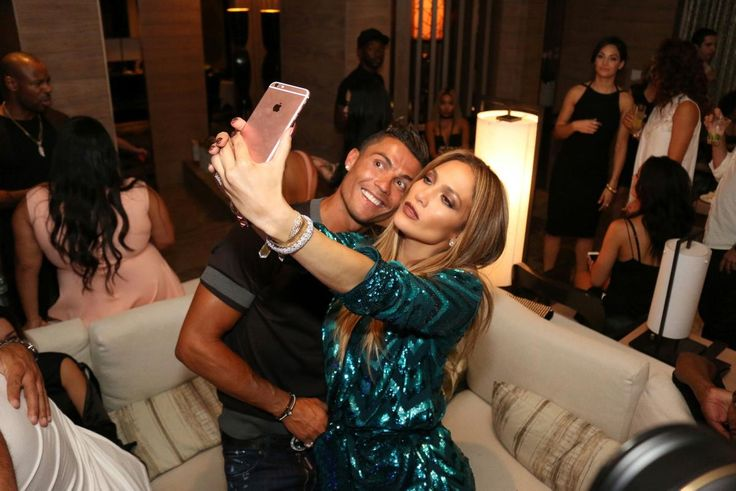 Power selfie! Jennifer Lopez posed for a snap with soccer superstar Christiano Ronaldo while celebrating her 47th birthday in Las Vegas on July 24, 2016.