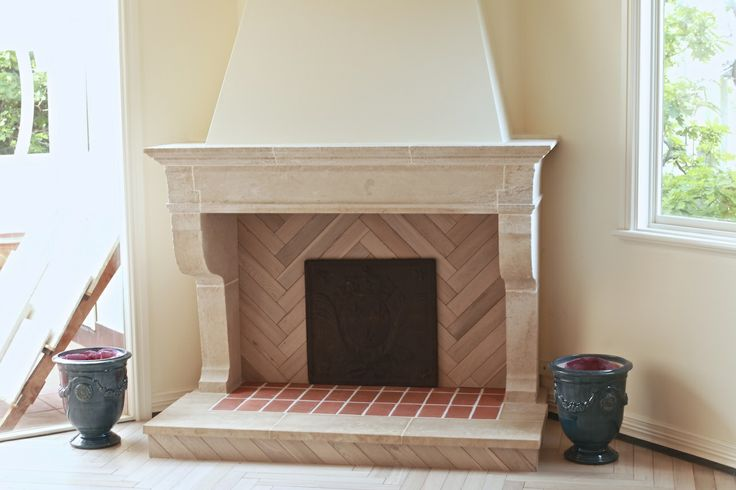 Savigny Chateau - French limestone fireplace
