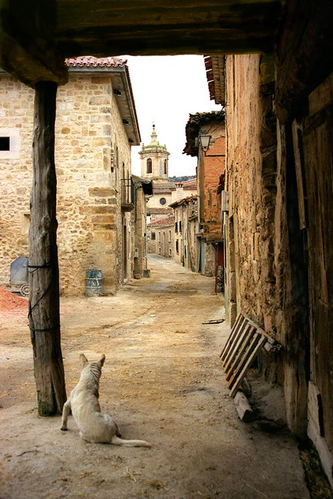 Mediaeval town of Santo Domingo de Silos, Burgos, Spain