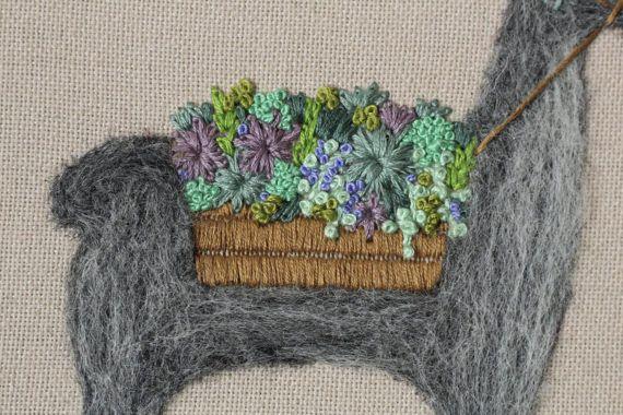Llama art/ alpaca art / wall hanging