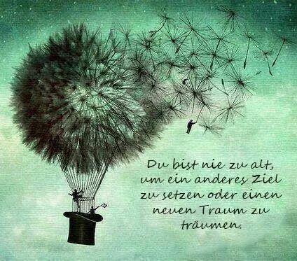 Du bist nie zu alt für neue Ziele. Wenn Du Inspirationen dazu möchtest, dann schreibe mir doch zellbalance@gmx.de