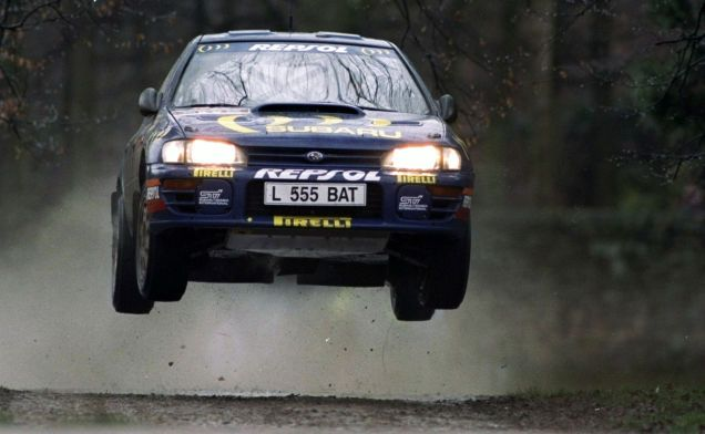 Since we're on the subject of Colin McRae today, here's a shot from the archives of the man doing wh