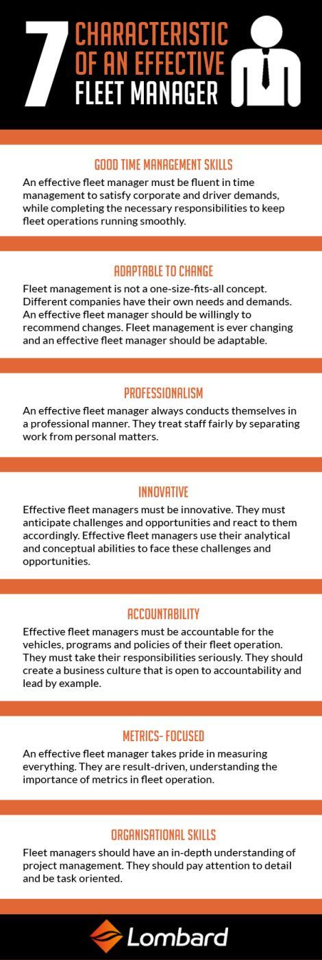 #Infographic: Seven Characteristics of an Effective Fleet Manager