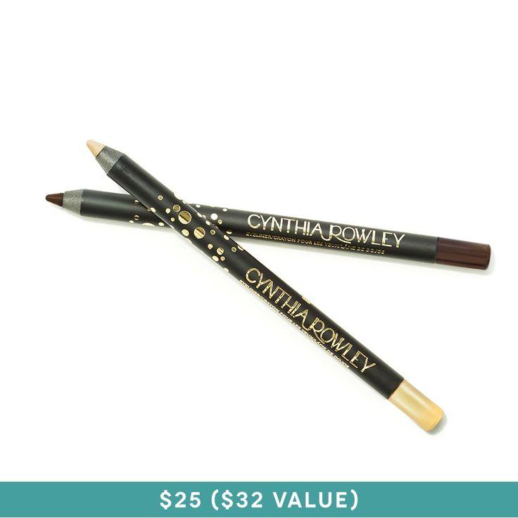 Cynthia Rowley Beauty Eyeliner Duo, charcoal and violet $25.00 #birchbox birchbox.com