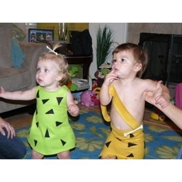 Pebbles & Bam Bam Halloween Costume. So much cheaper than buying one!