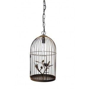 Kuş Kafesi Paslı Abajur #evdebir #ev #home #decor #dekor #dekorasyon #abajur #kus #kafes #bird #lampshade #cage #decoration
