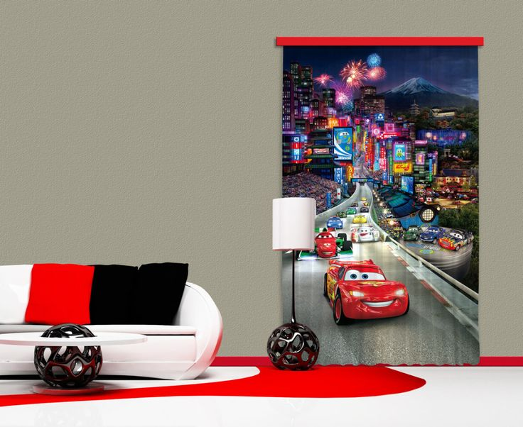 Magical Disney Cars Window Curtain. New Collection By WallandMore!