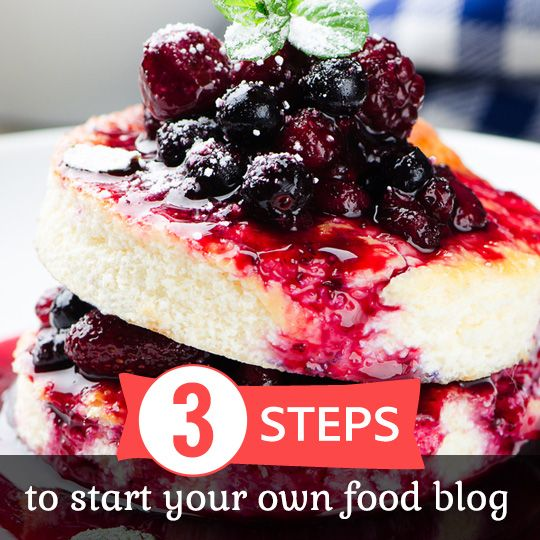 How to Start Your Own Food Blog- in 3 easy steps.