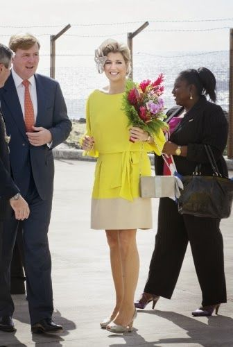 Nov 15, 2013 ~ Queen Maxima on the 2nd day of the 10 day visit to the Dutch Antillen,Saba