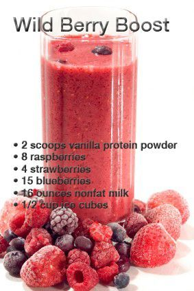 YUMMY!!!! Get that delicious fruit protein shake ready for tomorrow!