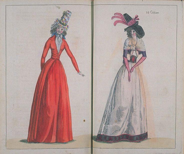 Journal de la mode et du goût, ou Amusemens du sallon et de la toilette: 5 Janvier 1791 http://digital.bunka.ac.jp/kichosho_e/search_list2.php?shoshi_filename=030&from_list=on