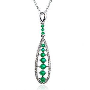 Lant cu smaralde si diamante C391