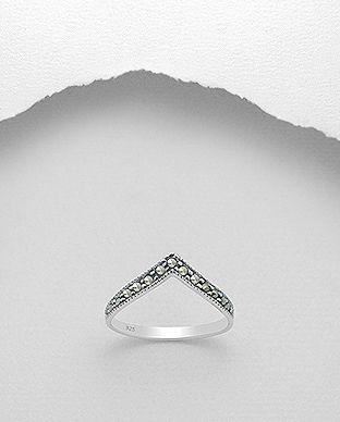 Enkelt og Søde Marcasite Ring