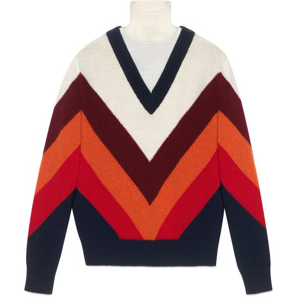 Gucci Chevron Intarsia Knit Top (18.335 ARS) ❤ liked on Polyvore featuring tops, ready-to-wear, women, red top, knit top, red chevron top, gucci top and button top