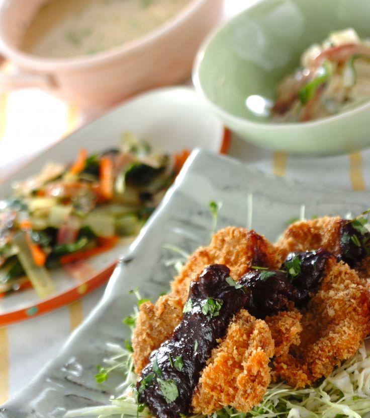「ヒレカツの春みそダレ」の献立・レシピ - 【E・レシピ】料理のプロが作る簡単レシピ/2008.04.07公開の献立です。