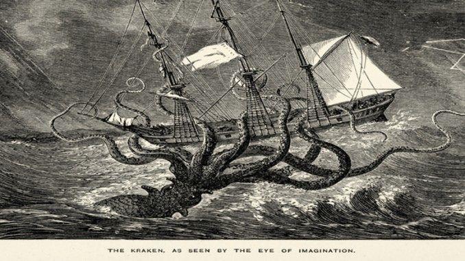 Kraken mungkin adalah monster yang paling menyeramkan yang dapat dibayangkan oleh manusia. Dalam cerita rakyat bangsa-bangsa Nordic, di ceritakan Kraken menghantui seluruh lautan dari Norwegia, Islandia bahkan  sampai Greenland.