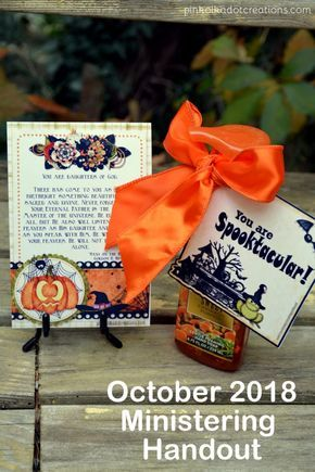 October 2018 Ministering Handouts | Secret sister ...