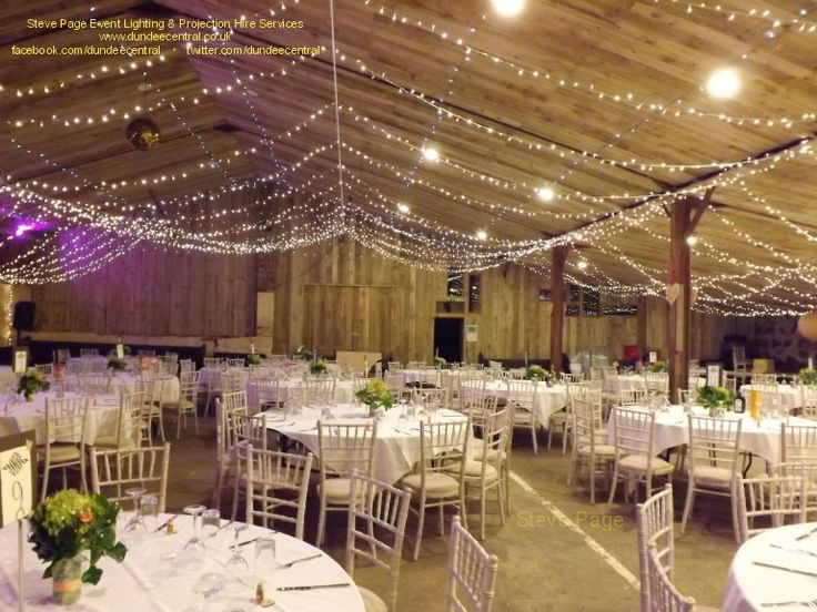 Fairy Light Canopy installed at the Comrie Croft Barn, in Perthshire: by Steve Page Event Lighting Hire, www.dundeecentral.co.uk