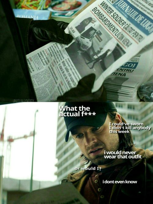 Probably what ran through Bucky's head when he saw the newspaper.