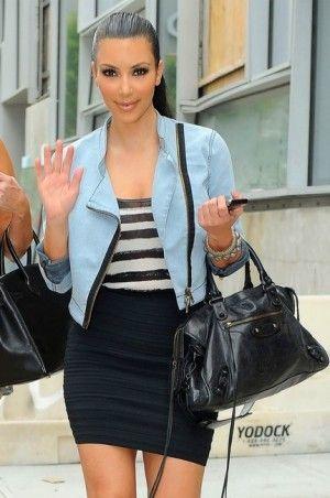 a47c3f2e6b1c03 Kim Kardashian wearing Yves Saint Laurent Tribute Double Platform Pumps,  Balenciaga City Bag in Black, Loren Jewels Bangle with Black Diamonds,  Loren Jewels ...