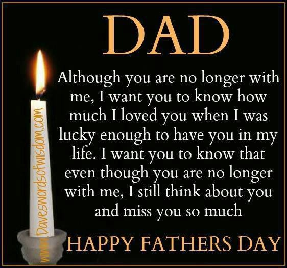 happy fathers day to a dad in heaven