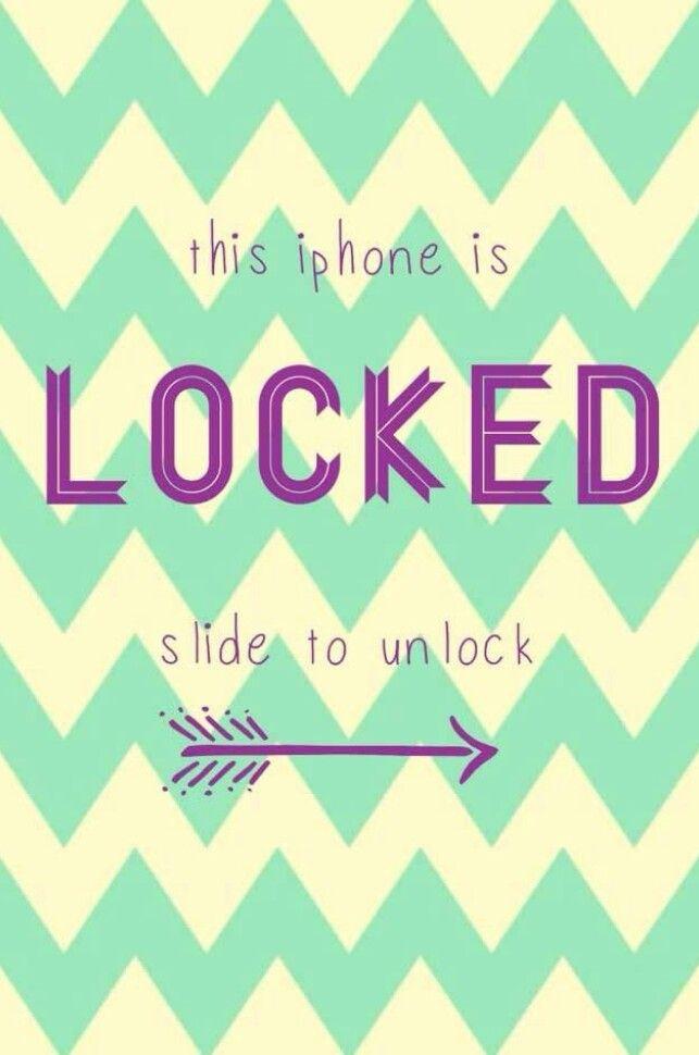 Slide to unlock!